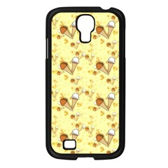 Funny Sunny Ice Cream Cone Cornet Yellow Pattern  Samsung Galaxy S4 I9500/ I9505 Case (black)