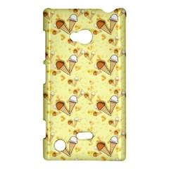 Funny Sunny Ice Cream Cone Cornet Yellow Pattern  Nokia Lumia 720