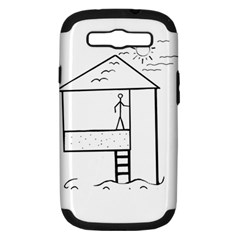 Drawing Samsung Galaxy S Iii Hardshell Case (pc+silicone)