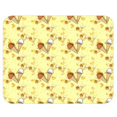 Funny Sunny Ice Cream Cone Cornet Yellow Pattern  Double Sided Flano Blanket (medium)