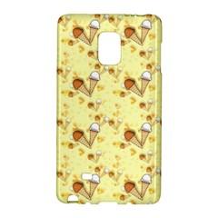 Funny Sunny Ice Cream Cone Cornet Yellow Pattern  Galaxy Note Edge