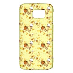Funny Sunny Ice Cream Cone Cornet Yellow Pattern  Galaxy S6 by yoursparklingshop