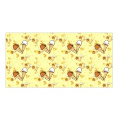 Funny Sunny Ice Cream Cone Cornet Yellow Pattern  Satin Shawl by yoursparklingshop