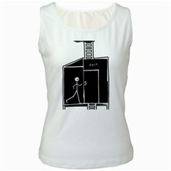 Drawing Women s White Tank Top