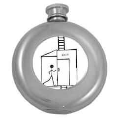 Drawing Round Hip Flask (5 Oz)