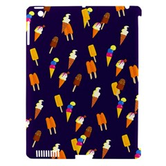 Ice Cream Cone Cornet Blue Summer Season Food Funny Pattern Apple Ipad 3/4 Hardshell Case (compatible With Smart Cover)