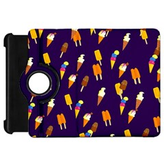 Ice Cream Cone Cornet Blue Summer Season Food Funny Pattern Kindle Fire Hd 7