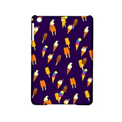 Ice Cream Cone Cornet Blue Summer Season Food Funny Pattern Ipad Mini 2 Hardshell Cases