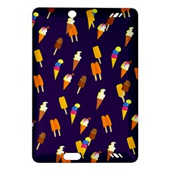 Ice Cream Cone Cornet Blue Summer Season Food Funny Pattern Amazon Kindle Fire Hd (2013) Hardshell Case