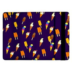 Ice Cream Cone Cornet Blue Summer Season Food Funny Pattern Samsung Galaxy Tab Pro 12 2  Flip Case