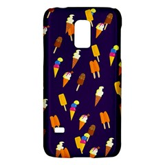 Ice Cream Cone Cornet Blue Summer Season Food Funny Pattern Galaxy S5 Mini by yoursparklingshop