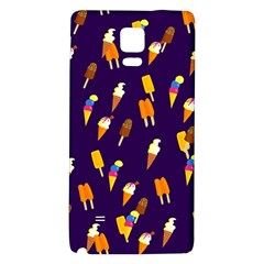 Ice Cream Cone Cornet Blue Summer Season Food Funny Pattern Galaxy Note 4 Back Case