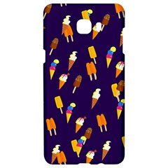 Ice Cream Cone Cornet Blue Summer Season Food Funny Pattern Samsung C9 Pro Hardshell Case  by yoursparklingshop