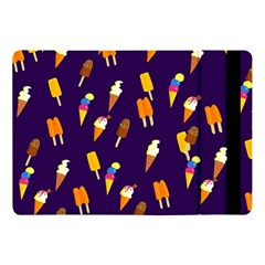 Ice Cream Cone Cornet Blue Summer Season Food Funny Pattern Apple Ipad Pro 10 5   Flip Case by yoursparklingshop
