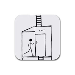 Drawing Rubber Square Coaster (4 Pack)