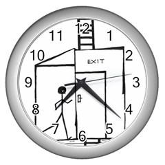Drawing Wall Clocks (silver)