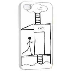 Drawing Apple Iphone 4/4s Seamless Case (white)