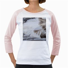Feather Brown Gray White Natural Photography Elegant Girly Raglans