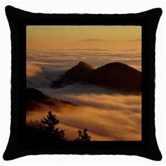 Homberg Clouds Selva Marine Throw Pillow Case (black)