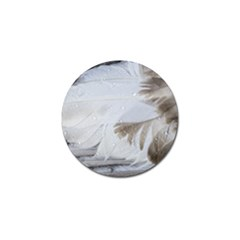 Feather Brown Gray White Natural Photography Elegant Golf Ball Marker