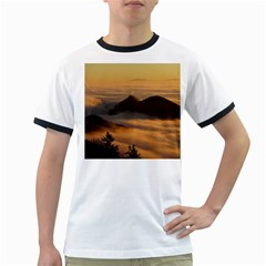 Homberg Clouds Selva Marine Ringer T Shirts