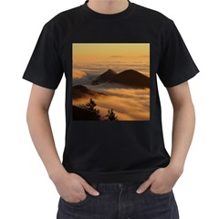 Homberg Clouds Selva Marine Men s T Shirt (black) (two Sided)