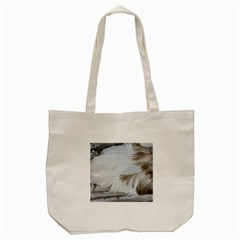 Feather Brown Gray White Natural Photography Elegant Tote Bag (cream) by yoursparklingshop