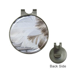 Feather Brown Gray White Natural Photography Elegant Hat Clips With Golf Markers