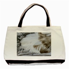 Feather Brown Gray White Natural Photography Elegant Basic Tote Bag (two Sides)