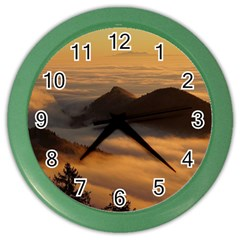 Homberg Clouds Selva Marine Color Wall Clocks