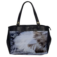 Feather Brown Gray White Natural Photography Elegant Office Handbags