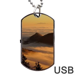 Homberg Clouds Selva Marine Dog Tag Usb Flash (two Sides)