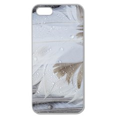 Feather Brown Gray White Natural Photography Elegant Apple Seamless Iphone 5 Case (clear)