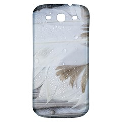 Feather Brown Gray White Natural Photography Elegant Samsung Galaxy S3 S Iii Classic Hardshell Back Case