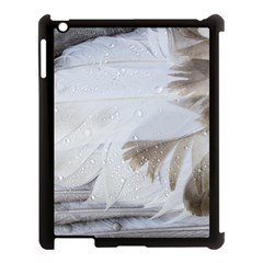 Feather Brown Gray White Natural Photography Elegant Apple Ipad 3/4 Case (black)