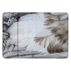 Feather Brown Gray White Natural Photography Elegant Samsung Galaxy Tab 8 9  P7300 Flip Case