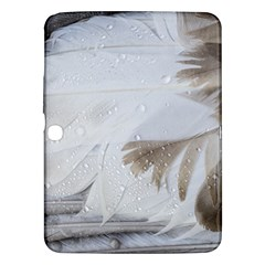 Feather Brown Gray White Natural Photography Elegant Samsung Galaxy Tab 3 (10 1 ) P5200 Hardshell Case
