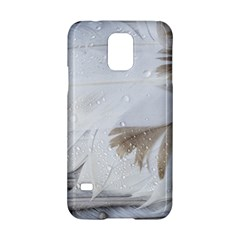 Feather Brown Gray White Natural Photography Elegant Samsung Galaxy S5 Hardshell Case