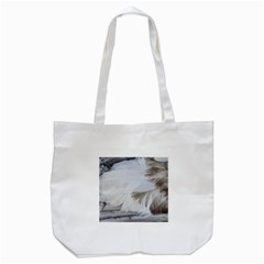 Feather Brown Gray White Natural Photography Elegant Tote Bag (white)