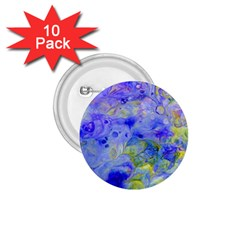 Abstract Blue Texture Pattern 1 75  Buttons (10 Pack)