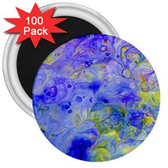 Abstract Blue Texture Pattern 3  Magnets (100 Pack)