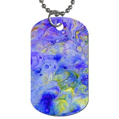 Abstract Blue Texture Pattern Dog Tag (one Side)