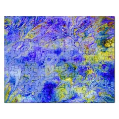 Abstract Blue Texture Pattern Rectangular Jigsaw Puzzl