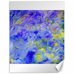 Abstract Blue Texture Pattern Canvas 18  X 24