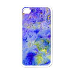Abstract Blue Texture Pattern Apple Iphone 4 Case (white)
