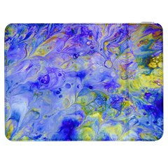 Abstract Blue Texture Pattern Samsung Galaxy Tab 7  P1000 Flip Case