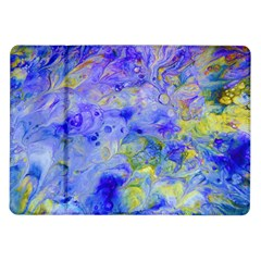Abstract Blue Texture Pattern Samsung Galaxy Tab 10 1  P7500 Flip Case by Simbadda