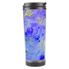Abstract Blue Texture Pattern Travel Tumbler