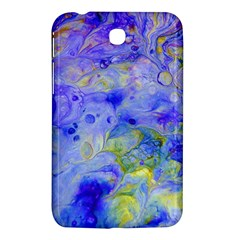 Abstract Blue Texture Pattern Samsung Galaxy Tab 3 (7 ) P3200 Hardshell Case