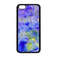 Abstract Blue Texture Pattern Apple Iphone 5c Seamless Case (black)